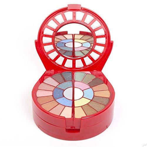 Cameo Deluxe Carry All Travel Makeup Palette - Included 26 Eyeshadows 6 Blushes 2 Press Powder 6 Lipsticks 1 Mascara 1 Eye Pencil 2 Applicators 1 Lip Brush 1 Brush (Palette Lipstick Mascara)