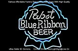 Pabst Blue Ribbon PBR Logo PUB Display Beer Bar Neon Light Sign Real Glass Tube 19'x16'' Handcrafted