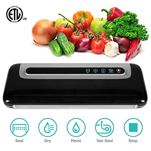 Best Choice Products 120W 50kPa Electric Food Vacuum Sealer Preserver Starter Kit for Meat, Fruit, Sous Vide w/Dry & Moist Sealing, Sealing Bags, Hose