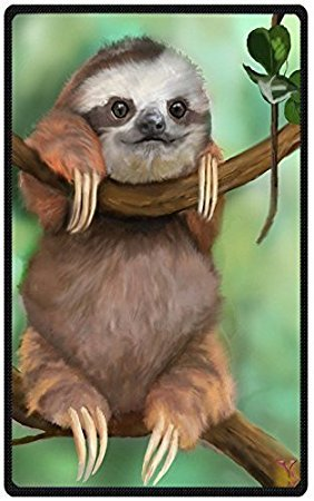 """""""HommomH"""" 60"""" x 80"""" Soft Blanket Air Conditioning Funny Sloth"""
