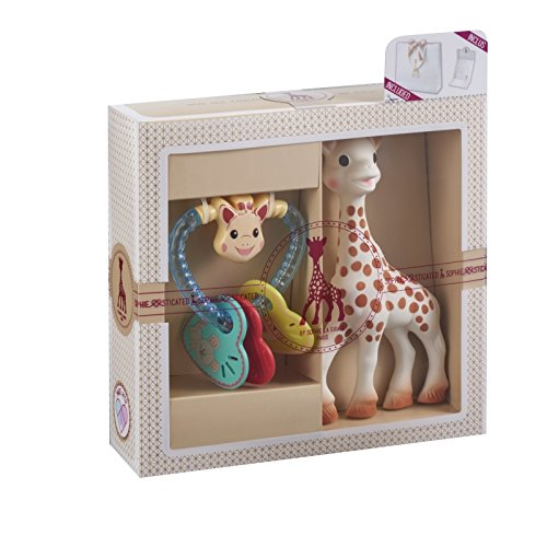 Vulli Sophie The Giraffe Sophiesticated Birth Gift Set Small #3- Rattle & Toy