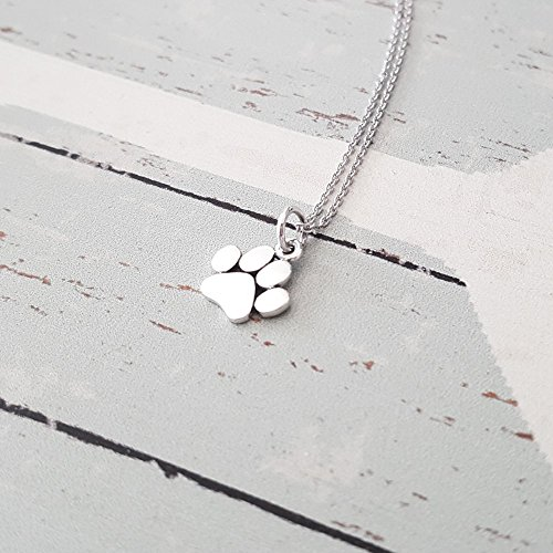 Sterling Silver Tiny Paw Charm Necklace