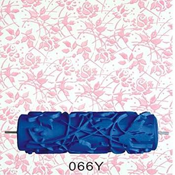 ZGY 15cm Wand Dekoration Blumen Muster Empaistic Malerei Roller Für Die  Dekoration Maschinen DIY Blau (