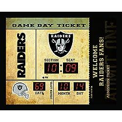 Team Sports America Oakland Raiders Bluetooth Scoreboard Wall Clock