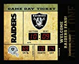 Team Sports America Oakland Raiders Bluetooth Scoreboard Wall Clock