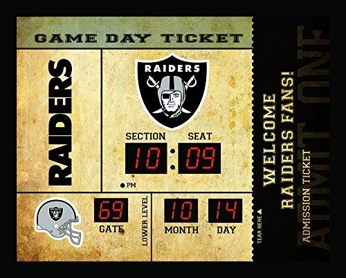 Oakland Raiders Bluetooth Scoreboard Wall Clock (Sports Team Wall Clock)