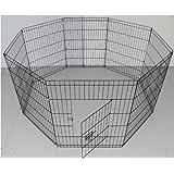 BUNNY BUSINESS 8panel box per i conigli/Guineas/cani e gatti, grande, nero