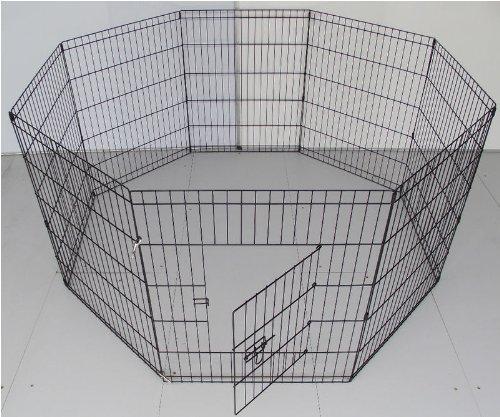 Bunny-Business-Parc-8-panneaux-pour-lapincochon-dinde-chien-ou-chat-Argent-Taille-M