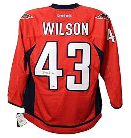 size 40 2456a 1f844 Tom Wilson Autographed/Signed Washington Capitals Reebok Red ...