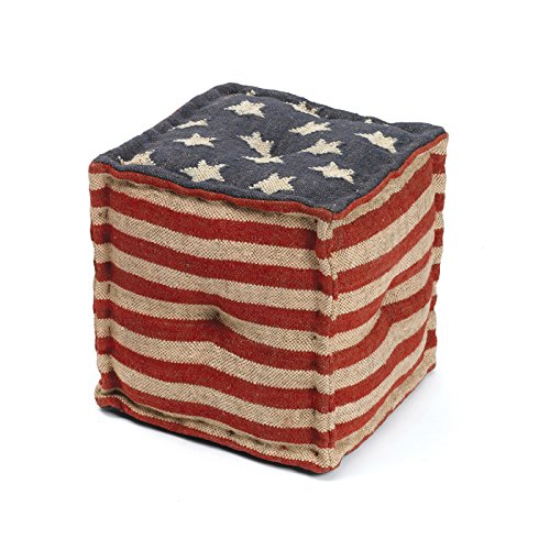 Eclipse Home Collection Star Spangled Pouf 16'' L x 16'' W x 16'' H