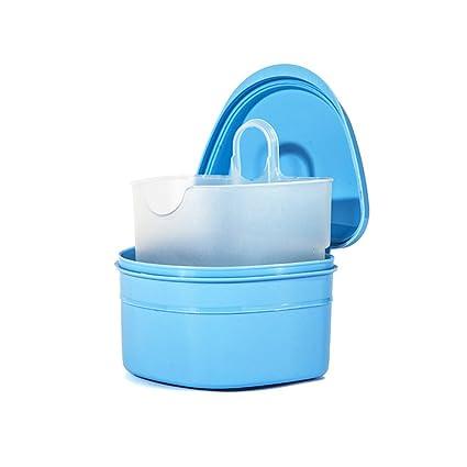 ROSENICE Caja de la caja de la dentadura Caja de la caja del baño de la