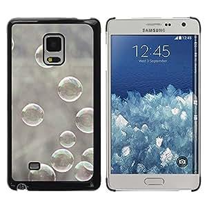 Paccase / SLIM PC / Aliminium Casa Carcasa Funda Case Cover para - Bubble Winter Nature Grey Reflective - Samsung Galaxy Mega 5.8 9150 9152