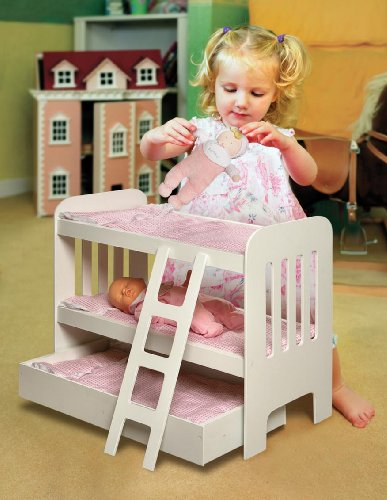 046605718575 - Badger Basket Trundle Doll Bunk Beds with Ladder (fits American Girl dolls) carousel main 2