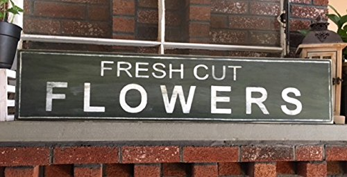 Fresh Cut Flowers Sign - Welcome Sign - Farmhouse Style Sign- Fixer Upper- 42""