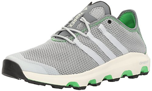 adidas Outdoor Men's Terrex Climacool Voyager Water Shoe, Clear Onix/Clear Grey/Energy Green, 10.5 M US