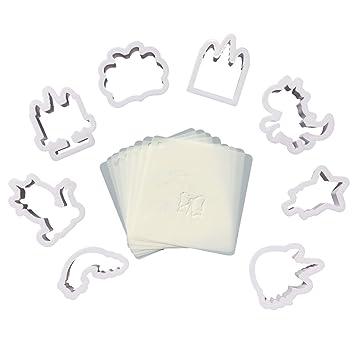 (Juego de unidades), 8 juego de unicornio cortador de galletas Fondant molde para