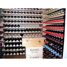 Wine Rack Wood -32 Bottles Modular Hardwood Wine Racks (8 bottles x 4 shelves)
