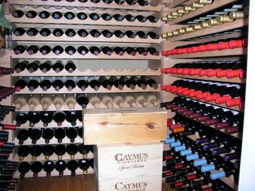 Stackable Wine Cellars (Wine Rack Wood -32 Bottles Modular Hardwood Wine Racks (8 bottles x 4)