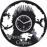 Vinyl Wall Clock, Game Of Thrones, Mother Of Dragons Targaryen, Vinyl Record Clock, Best Gift For Her, Kovides, Home Art Decor, Vinyl Wall Clock Silent, Wall Clock Large, Valentines Day Gift