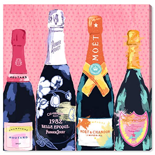 - The Oliver Gal Artist Co. Drinks and Spirits Wall Art Canvas Prints 'Pass The Bottle!' Home Décor, 12