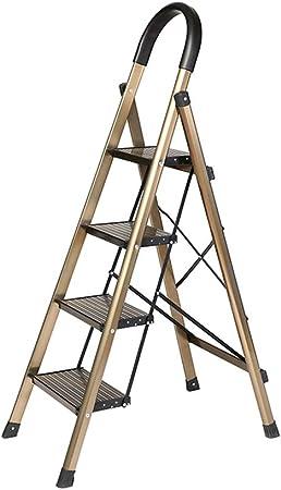 Suministros de construcción Ligera ultrafino Escalera carga pesada de cuatro pasos de escalera de tijera Pedal Ampliación seguros/plegable Grosor: 5 cm / 2 colores ahorra espacio: Amazon.es: Bricolaje y herramientas