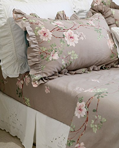 HOMIGOO 4PC Country Bedding Set Floral Fitted Sheet Twin by HOMIGOO (Image #1)