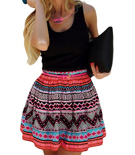 peggynco-womens-black-tank-top-tribal-print-skirt-flared-dress-size-s