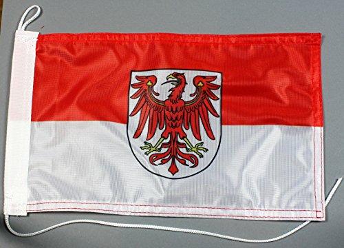 Bootsflagge Brandenburg 20 x 30 cm in Profiqualität Flagge Motorradflagge