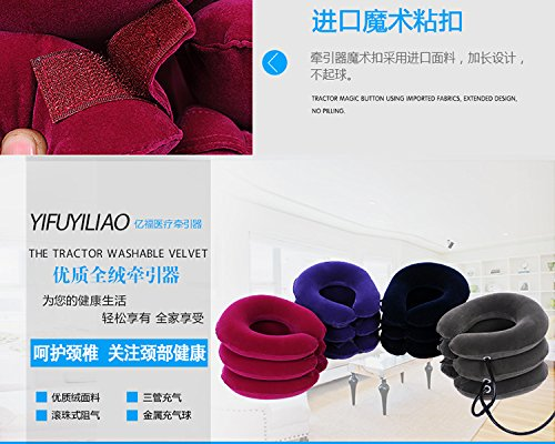 FM Inflatable air Pillow Neck Pain Cervical Traction Head Support Springs fire Device for Head The Back Shoulder Neck Pain Health by ming (Image #2)