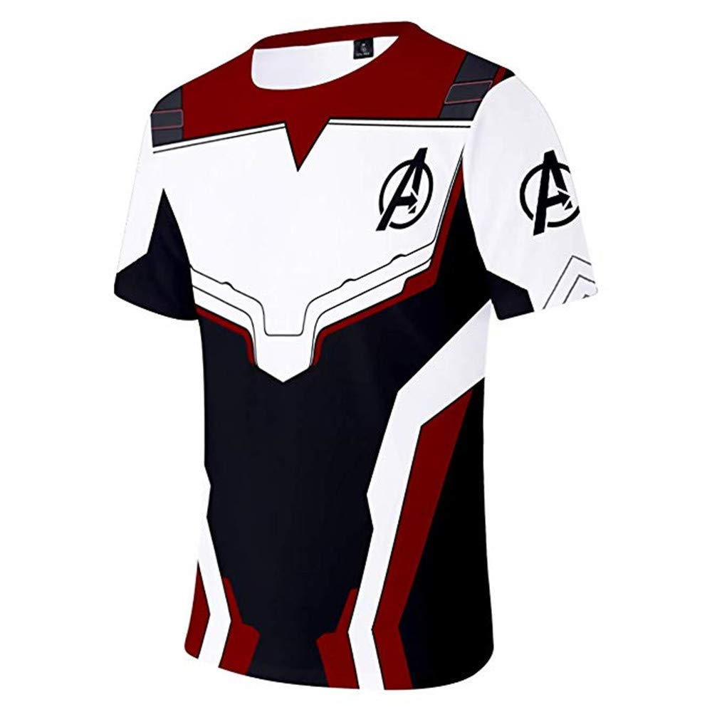 Adult Avenger\'s Endgame Quantum Realm Hoodie Jacket Costume Cosplay Costume Zipper Pullover Shirts Sweatshirt. (3:T-Shirt, XX-Large)