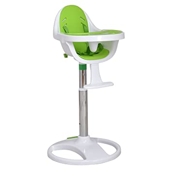 Costzon Baby High Chair Pedestal Adjustable Highchair Safety Seat (Green)
