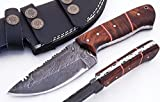 SharpWorld Beautiful Damascus Knife Made Of Remarkable...