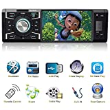 Indash Car Stereo with Bluetooth Single Din FM Radio for Car and MP5 Player USB/SD/AUX/FM