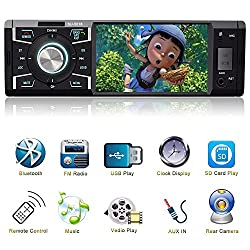Indash Car Stereo With Bluetooth Single Din Fm Radio For Car & Mp5 Player Usbsdauxfm Receiver Wireless Remote Control