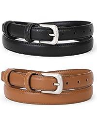 d686ab62 Women Leather Belt Waist Skinny Dress Belts Solid Pin Buckle Belt For Jeans  Pants