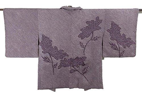 帰するスクラップ訪問リサイクル 羽織 総絞り 菊の花 正絹 裄60.5cm 身丈74cm