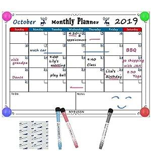 MYEUSSN A3 Paño magnético Planificador mensual Calendario del ...