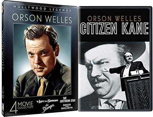 Maltese Rose - Rosebud & The Magician DVD Collection Orson Welles Lady from Shanghai / Southern Star / Stranger / David and Goliath + Citizen Kane 5 Classics Movie Hollywood Legends Bundle