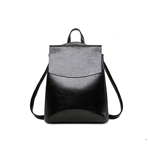 647c3afb45c6 Yoome Womens Backpack Leather Multi-Way Girls School Backpack Vintage  Simple Design Purse Black