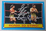 The Killer Bees Jim Brunzell & B. Brian Blair Signed 1987 Topps WWF Card #62 WWE - Autographed Wrestling Cards