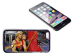 iPhone 6 Black Plastic Hard Case with High Gloss Printed Insert Flash Gordon