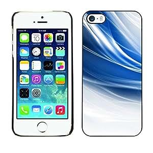 // PHONE CASE GIFT // Duro Estuche protector PC Cáscara Plástico Carcasa Funda Hard Protective Case for iPhone 5 / 5S / El azul remolina /