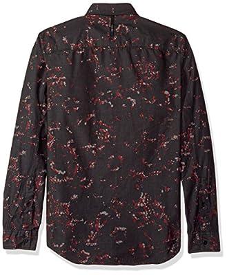 Calvin Klein Jeans Men's Long Sleeve Abstract Floral Print Button Down Shirt