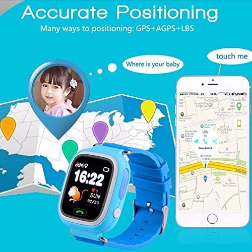 f9254d2c5a1 Relógio Smartwatch Q90 kids Gps Localizador de Crianças Idosos Rastreador  Chamadas SOS Andorid IOS (ROSA)  Amazon.com.br  Eletrônicos