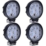 STANSEN 4 pcs x 27W Round Waterproof LED Working Light 9LED SUV Off road Boat Headlight Flood Driving Fog work Light
