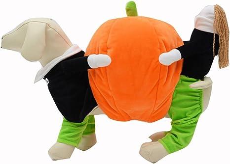 UEETEK Costume para Mascotas Disfraz para Perros Calabaza ...