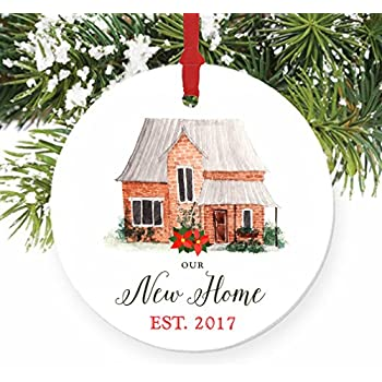 Amazon.com: Our First Christmas in Our New Home Christmas Ornament ...