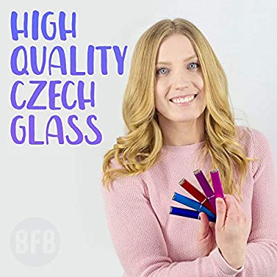 Glass Nail File Manicure Set for Gentle Nail Care & Professional Smooth Finish - 5-Piece Premium Czech Glass Nail File Set by Bona Fide Beauty