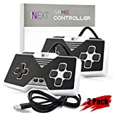 [Newest Version] SNES Super Nintendo Controller, iNNEXT Retro USB Super Classic Controller for PC / Mac / Raspberry Pi (Black) (Pack of 2)