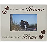 Paw Prints In Heaven Paw Prints On My Heart 4x6 Pet Dog Wood Picture Frame